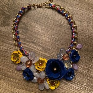 Chunky Crystal Floral Necklace